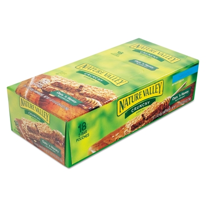 Picture of Granola Bar, Nature Valley , Oats'n Honey Cereal, 1.5oz Bar, 18/Box