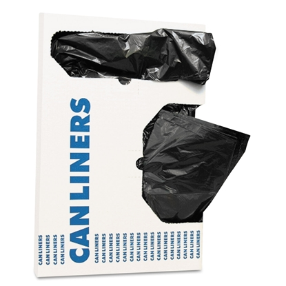 Picture of Trash Bag, Can Liners, AccuFit® Low-Density, 24 gal, 0.9 mil, 28 x 45, Black, 200/Carton (HERH5645TKR01)