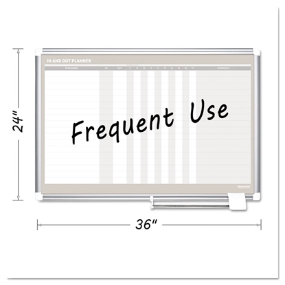 Silver frame in-out magnetic dry erase board