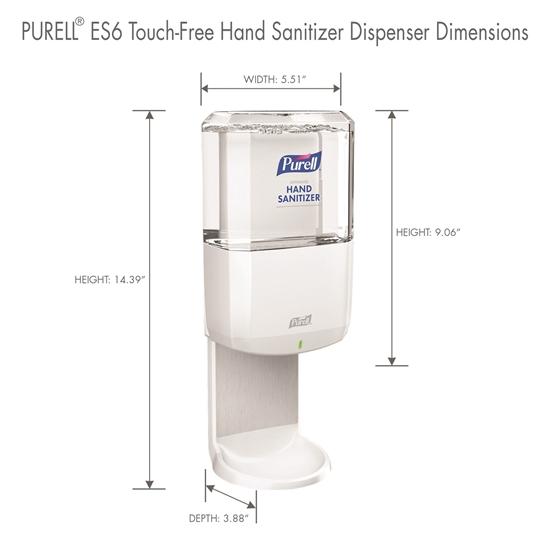 Dimensions for Es6 Hand Sanitizer Dispenser