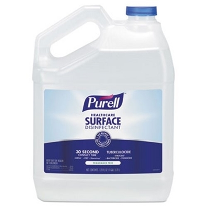 Picture of Disinfectant, Healthcare Surface , Fragrance Free, 128 Oz Bottle, 4/carton