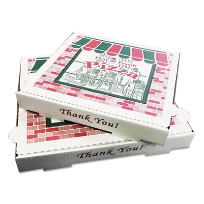Pizza Box, Takeout Containers, 12 in Pizza, White