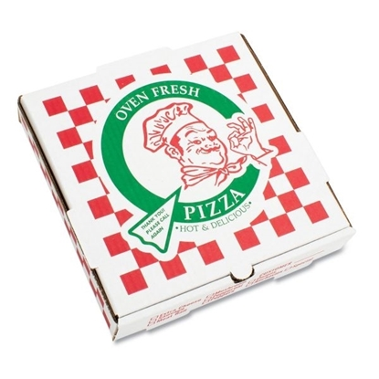 PIZZA Box Corrugated Kraft Pizza Boxes, Takeout Containers, 16 in Pizza, White